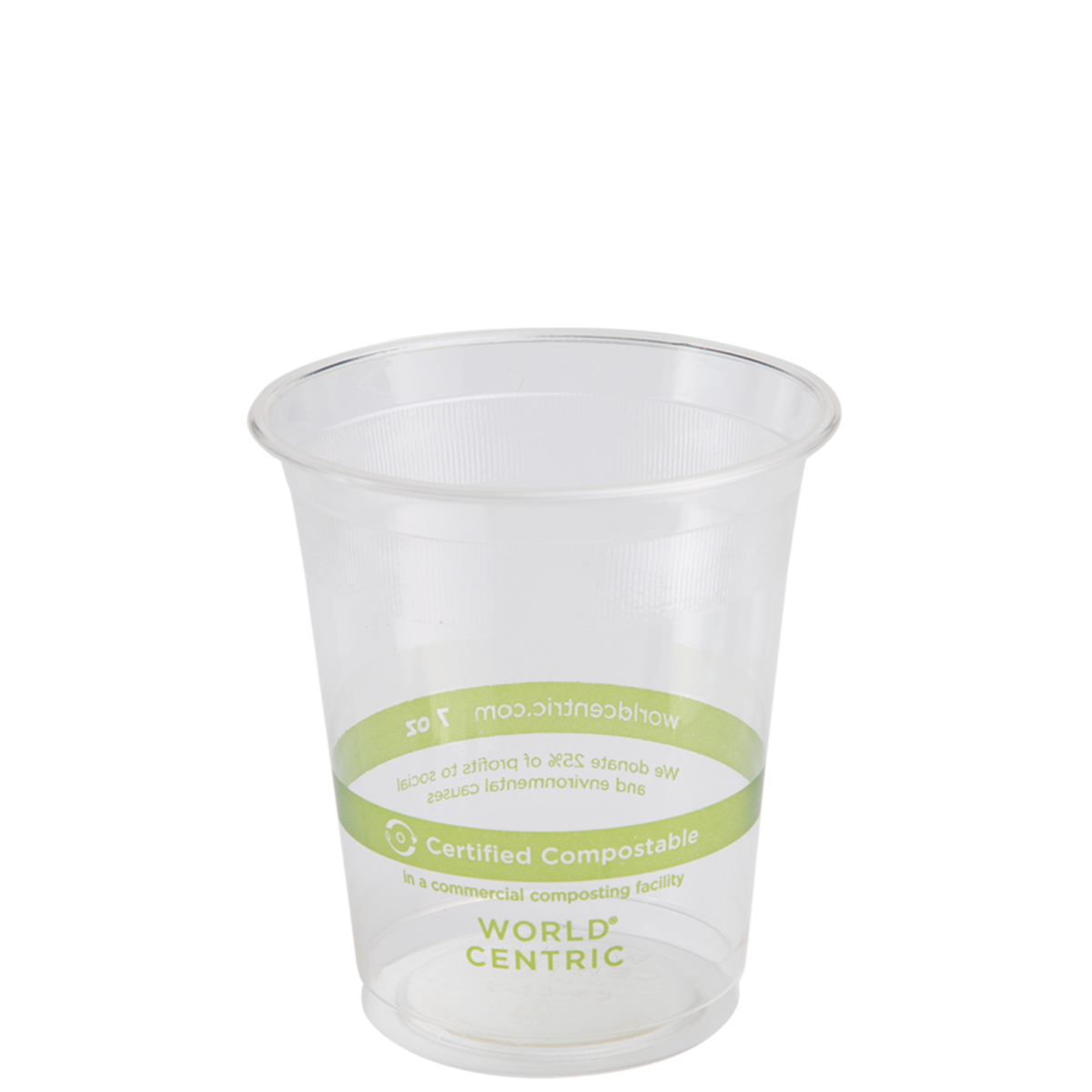 Cold Cups 7 oz Clear  Compostable 2000/cs